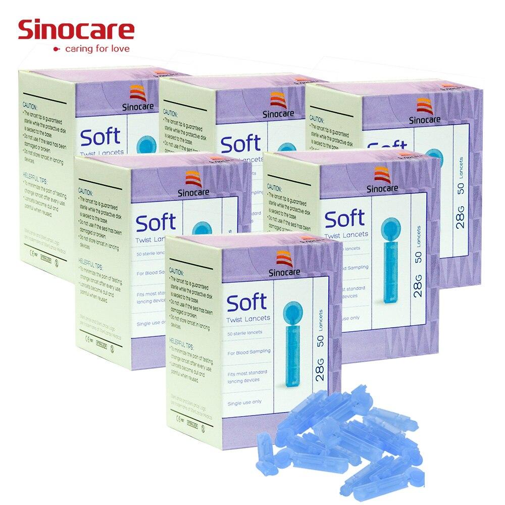 Aiguilles de lancette de Sinocare de 300 pièces pour le test de glycémie aiguilles médicales de collecte de sang pour les Tests de diabète