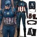 2017 Hot Movie adult Captain America 3 Civil War Cosplay Costume Steve captain america costume Adult Men Halloween