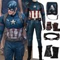 2017 Hot adult Movie Captain America 3 Guerra Civil Cosplay Steve capitán américa de Los Hombres Adultos de disfraces de Halloween