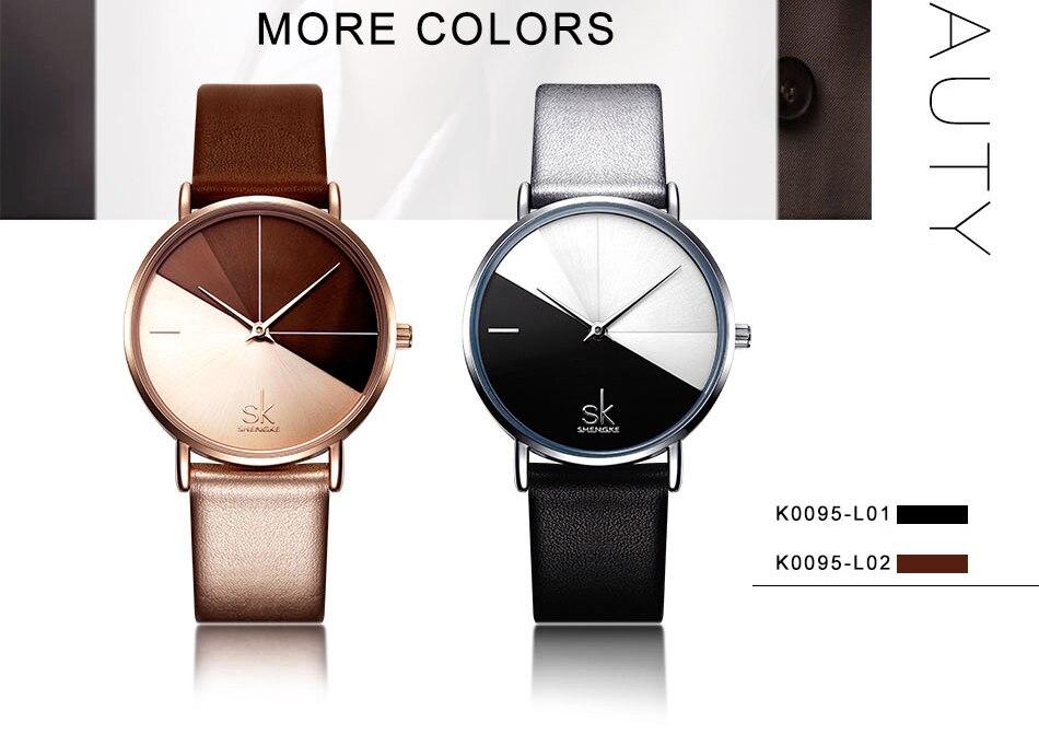 Luxury Leather Watches Women Minimalist Creative Fashion Quartz Watch Reloj Mujer 2018 Simple Ladies Wrist Watch Bayan Kol Saati (5)