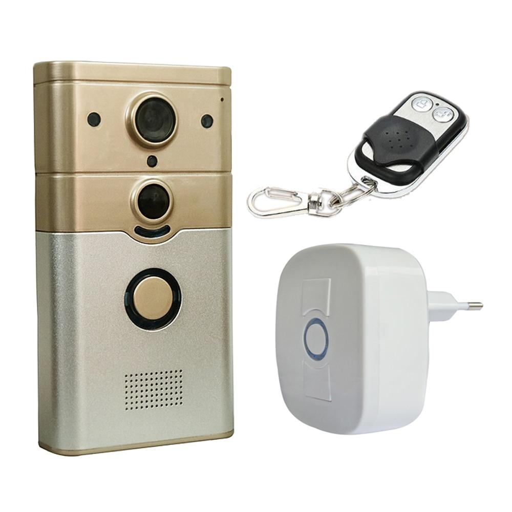 720P Wireless WIFI Camera Video Door Phone Infrared Detector Sensor Tamper Alarm Function Support App Control Smart Doorbell