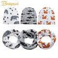 Spring Autumn Cotton Baby Beanie Hats Cartoon Print Newborn Hat Elastic Toddler Infant Cap 1 PC