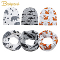 Spring Autumn Cotton Baby Beanie Hats Cartoon Print Newborn Hat Elastic Toddler Infant Cap 1 PC