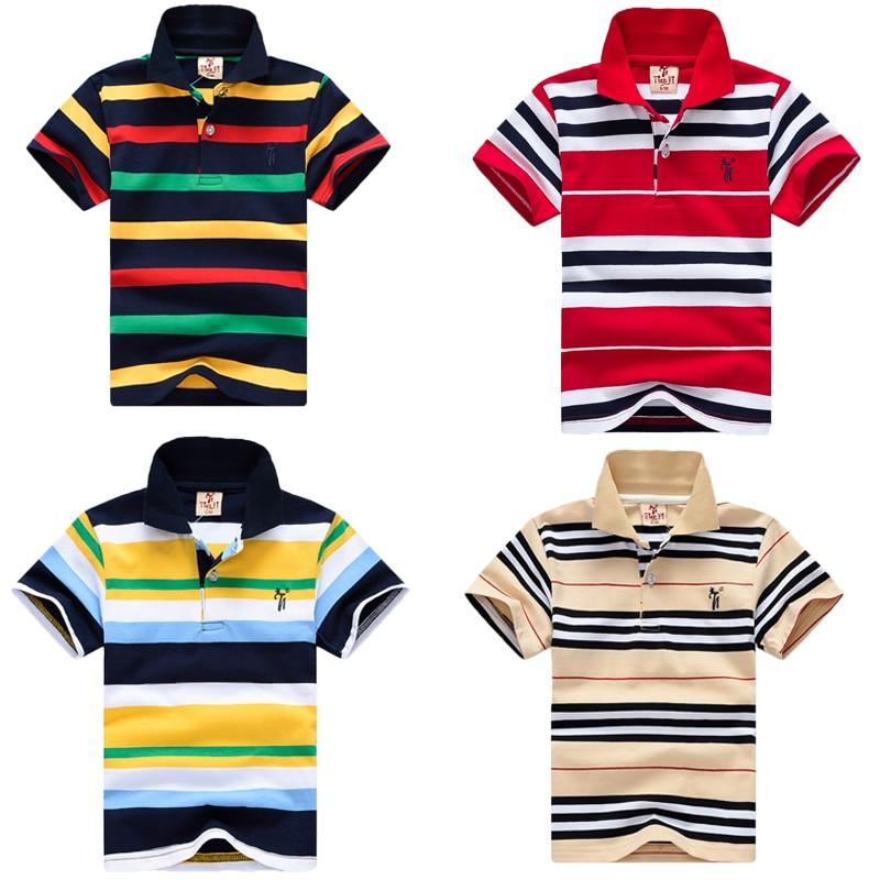 c00e5ee82d0 2018 Summer Children Short Sleeve Polo Shirt Racing Car Boys Clothes Cotton  Shirts 2-7Years
