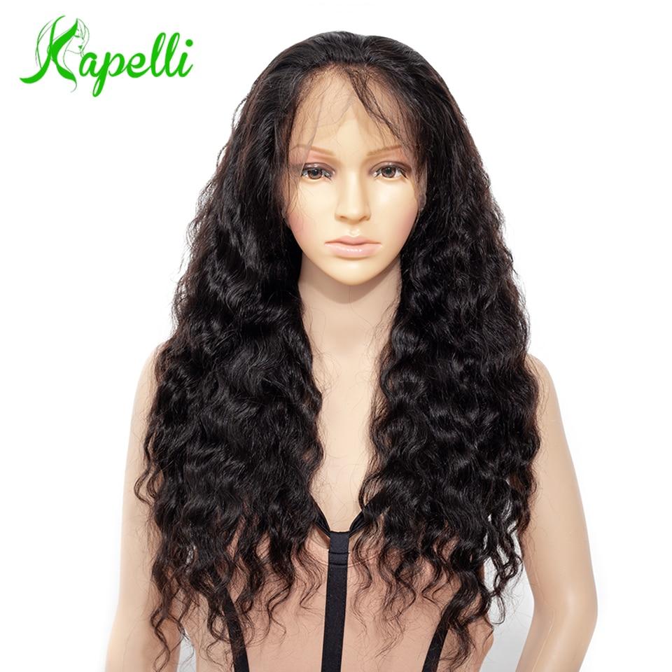 Vague lâche sans colle pleine dentelle perruques cheveux humains avec bébé cheveux 150% densité NC brésilien Remy cheveux pleine dentelle perruques pour les femmes noires