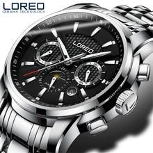 2017 Marca de Lujo Casual de Negocios Hombres Reloj Mecánico Automático de Acero Inoxidable Relojes Reloj Militar Del Relogio Impermeable