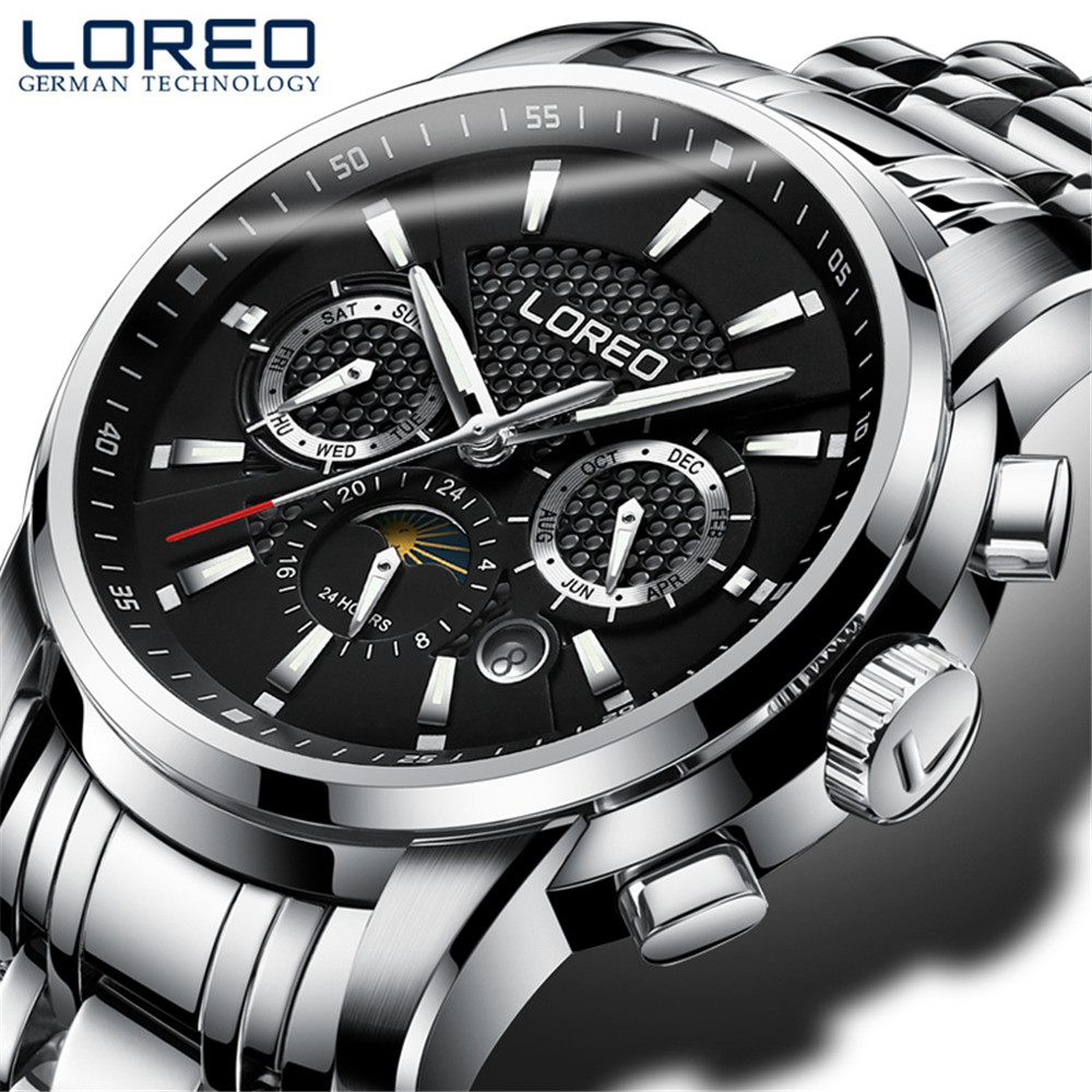 2017 Luxury Brand Stainless Steel font b Watch b font Men Business Casual Automatic Mechanical font