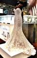 Impresionante cuentas de diamantes de lujo Crystal Sweetheart Real de fotos vestidos de novia largo de la sirena 2016 nuevo