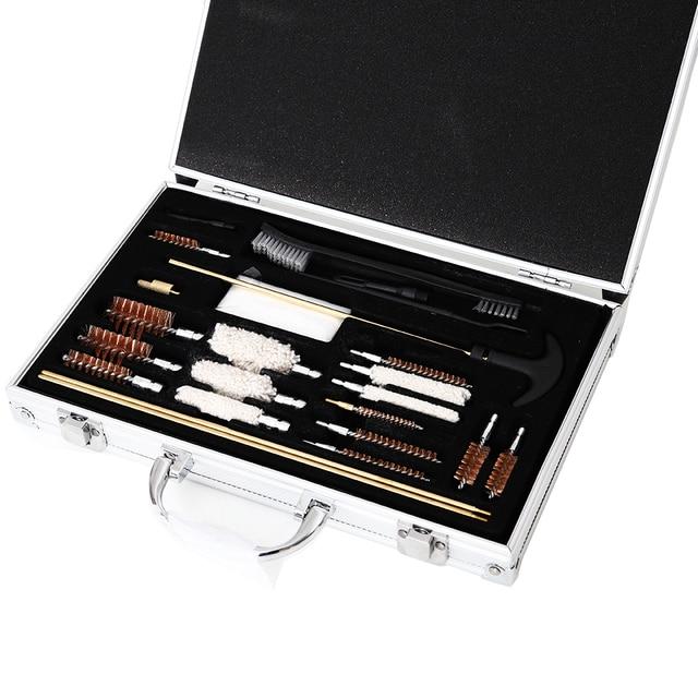 Pistolet de chasse universel, Kit doutils de nettoyage de brosses pour lextérieur, nettoyage de tuyaux, serpillière, fusil Portable, brosses darme à feu