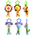 Baby 0-3 Years Cute Rattle Hand Bell Toys for Children 6 Style Bird Chicken Lion Dog Animal Plush Happy Monkey Kids Game Gifts