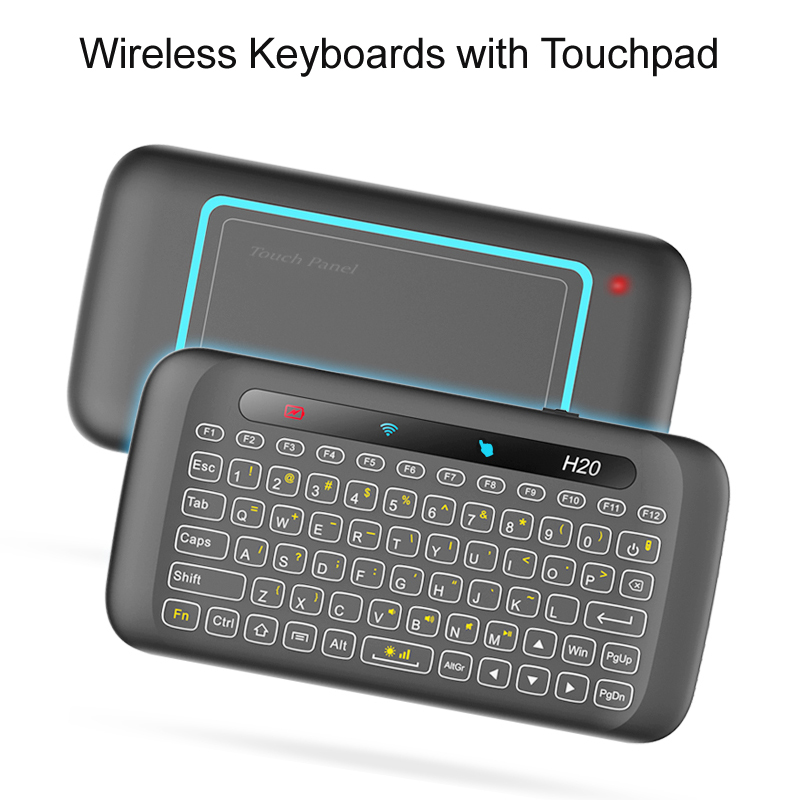 Universal Remote Control 2.4G Backlit Air Mouse with Large Touchpad Mini Keyboard for Smart TV Box Mini PC Samsung LG TV