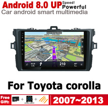 ZaiXi For Toyota corolla 2007~2013 Android Car GPS 2 Din HD Screen Navi Map Stereo Multimedia Navigation Player Auto Radio yessun car android player multimedia for toyota fj cruiser radio stereo gps map nav navi navigation no cd dvd 10 hd screen