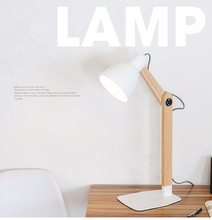 Nordic Wood Table lamp with E27 Dimmer Switch iron Lampshade lamparas de study Desk lamp For Living Room bedside led table light стоимость