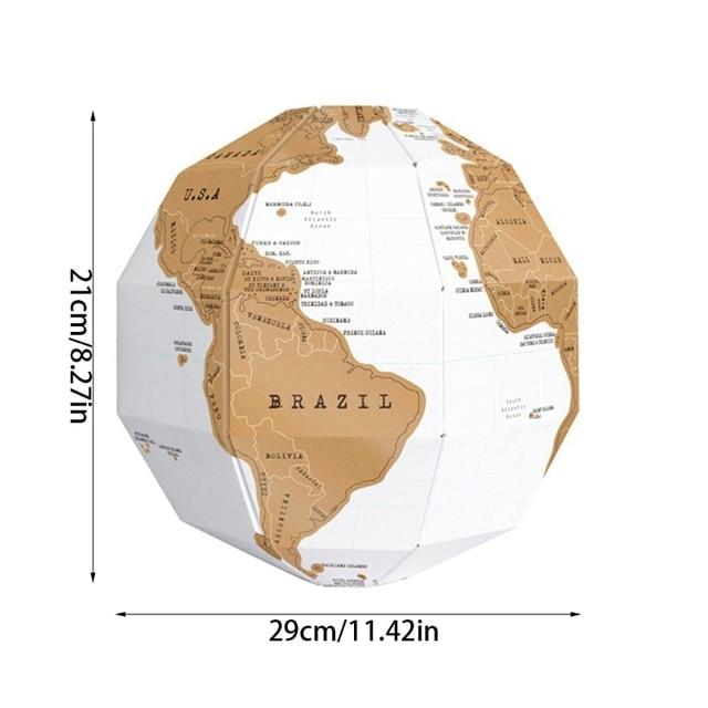 Globe 3D carte du monde à gratter 5