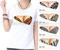 Ropa de Verano Unisex 2016 mujeres Forman La camiseta Divertida creativa sujetador de leopardo 3D Impreso mujeres hombres camiseta Floja Tops Tees