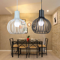 Retro Vintage Edison Pendant Light Bulb Iron Guard Wire Cage Ceiling Hanging Light Fitting Bar Cafe