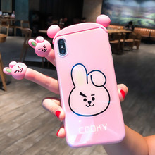 BTS Characters- TATA, RJ, COOKY silicone 3D case for iPhone XR XS Max X 8 7 6 Plus