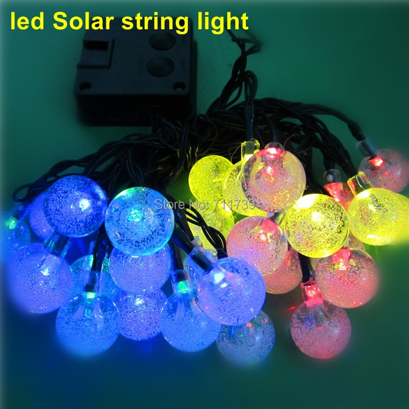 Copper Globe String Lights : 1set 30 LED 6M waterproof decorative copper globe solar powered led solar string lights outdoor ...