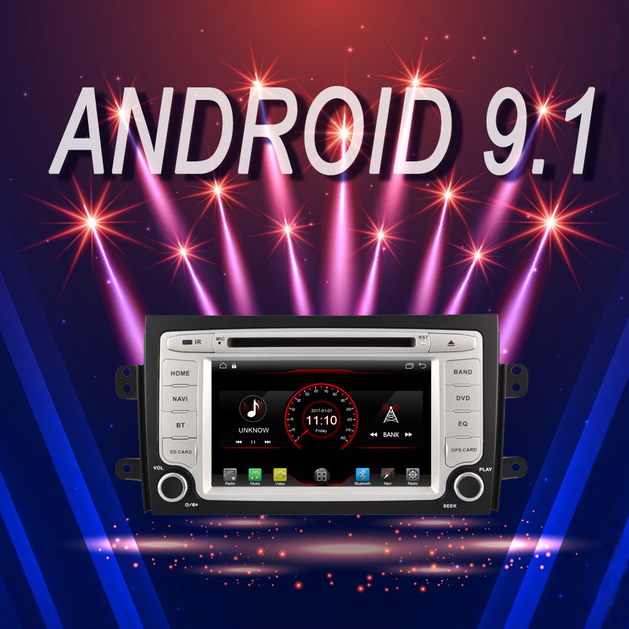 car multimedia Player <font><b>Android</b></font> 9.1 Car GPS Bluetooth stereo fit for <font><b>SUZUKI</b></font> <font><b>SX4</b></font> <font><b>2006</b></font>+ recorder DVD autoradio Head Unit image
