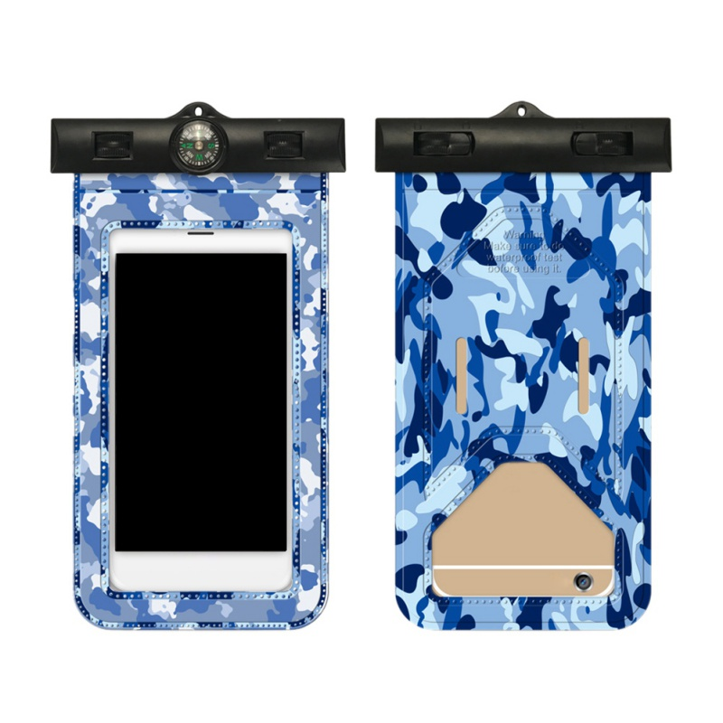 Swimming Bags Swimming Mobile Phone Protection Bag Easy Touch Camouflage Mobile Bag Beach Sport Waterproof Bag For Phone