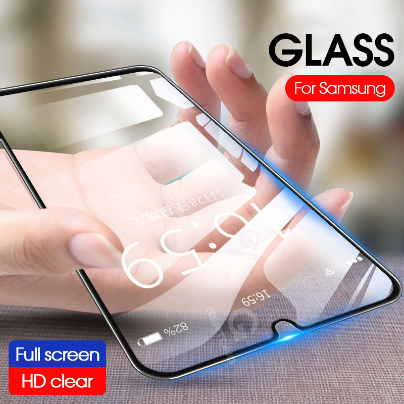 9D Full Curved <font><b>Tempered</b></font> <font><b>Glass</b></font> For <font><b>Samsung</b></font> Galaxy <font><b>A10</b></font> A30 A50 9H Protector For <font><b>Samsung</b></font> M10 M20 M30 Front Film Full Cover <font><b>Glass</b></font> image