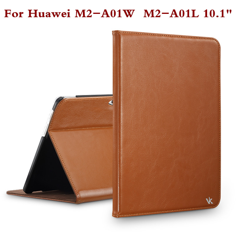 Fashion Leather Tablet Cover For Huawei Mediapad 10 M2 A01W M2 A01L M2-A01W Stand Case 10.1 Inch Screen Protector Film Pen Gift