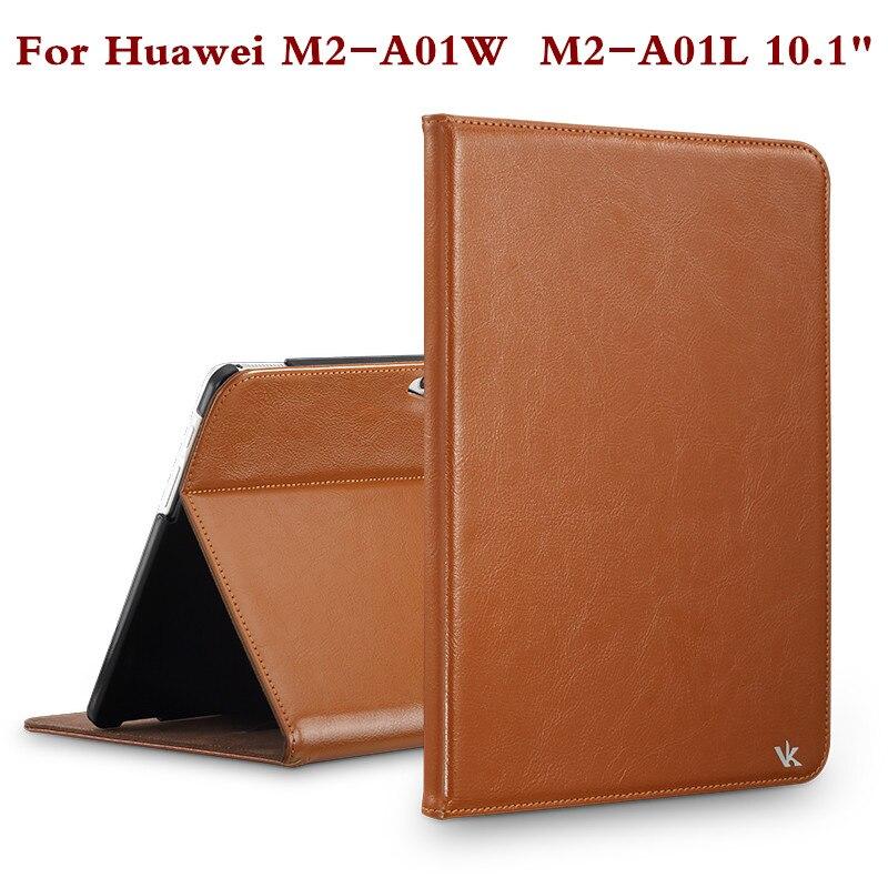 """Prix pour Mode En Cuir Tablet Couverture Pour Huawei Mediapad 10 """"m2 a01w m2 a01l m2-a01w stand case 10.1 pouce écran protecteur film stylo cadeau"""