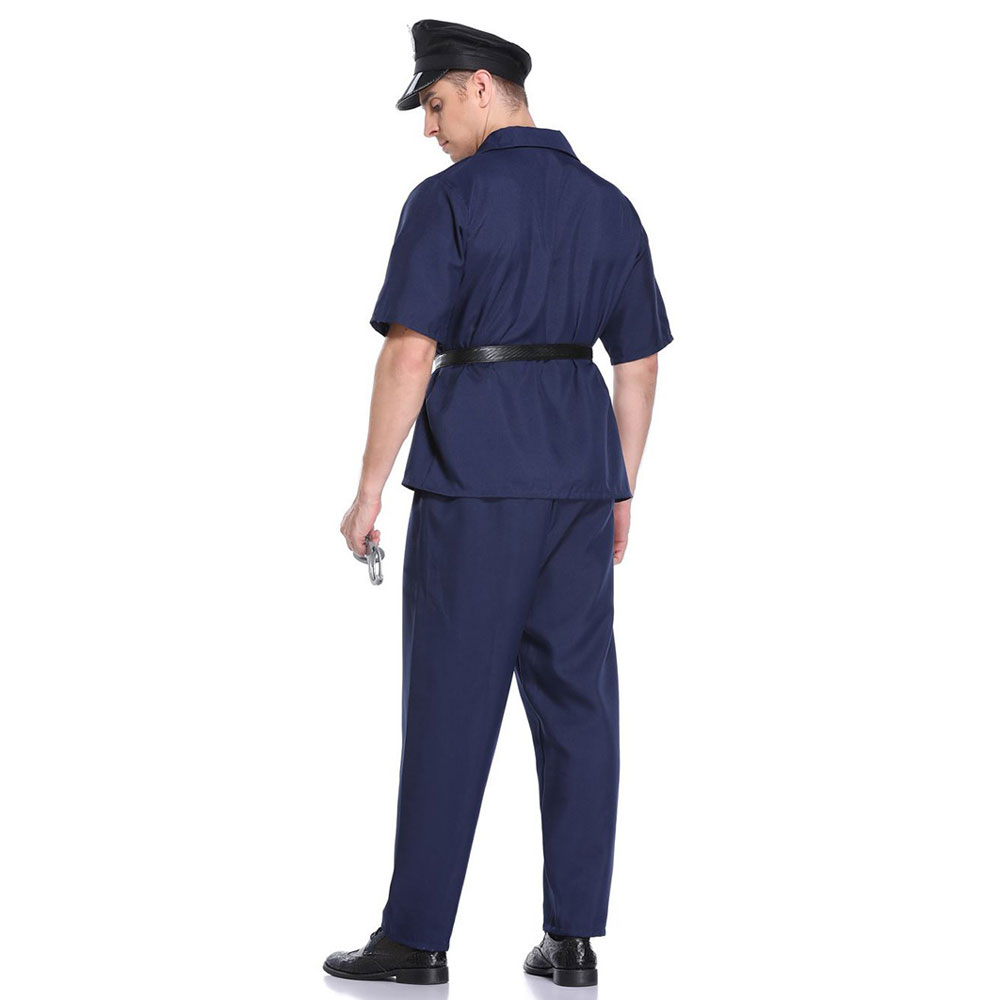 Umorden Men 39 s Police Officer Cops Costume Policeman Uniform Halloween Carnival Purim Mardi Gras Party Outfit in Holidays Costumes from Novelty amp Special Use