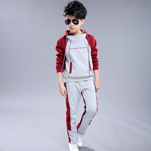 Kids clothes 2019 New Year's Eve Long Sleeve Children's Set Girl boy Hooded Hooded Sports Top + Pants 3-12 baby girl clothes