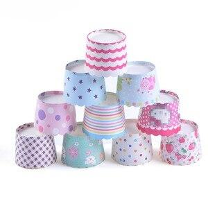Image 2 - LIFETALK 50 Adet Parti Kek Dekorasyon Pişirme Kalıp Muffin Mini Kağıt Pişirme Bardaklar