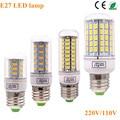 Bombillas LEVOU Holofotes Lâmpada E27 SMD 5730 lâmpadas LED Luz 36 72 96 Leds Lâmpada LED E27 220 V Ampola Luz de velas