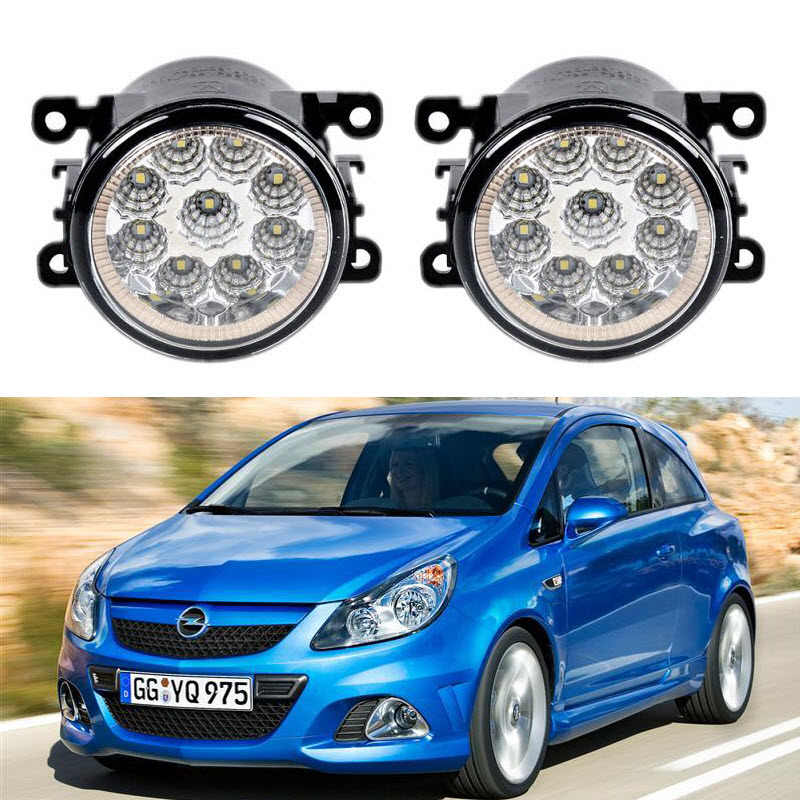Car-Styling For Opel Vauxhall Corsa D OPC 2007-2011 9-Pieces Led Fog Lights H11 H8 12V 55W Fog Head Lamp