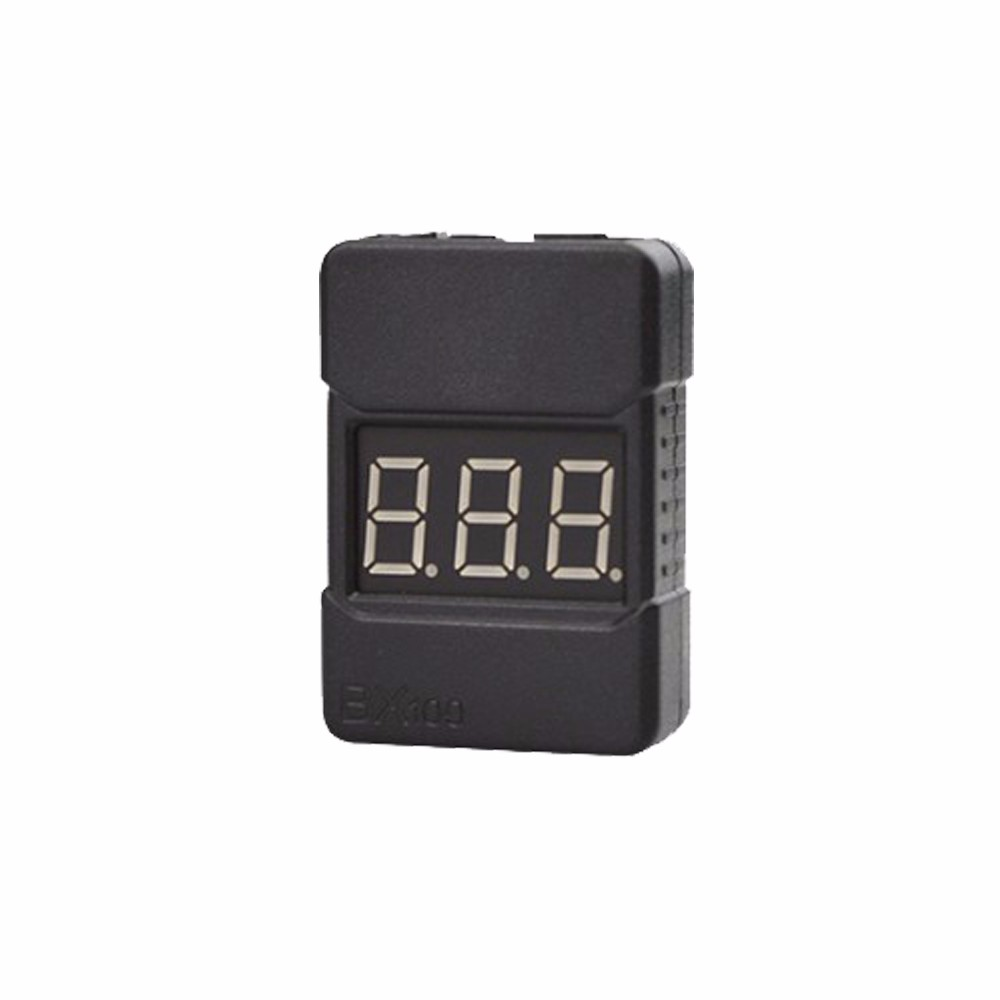 10pieces BX100 1-8S Lipo Battery Voltage Tester Low Voltage Buzzer Alarm Checker With Dual Speakers F18255-10/-50