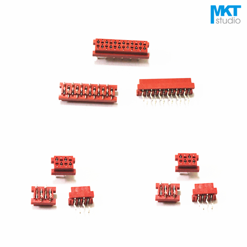 10Pcs Micromatch Through Hole Red 2.54mm Pitch Male IDC Box Header Connector Sample 4P 6P 8P 10P 12P 14P 16P 18P 20P 22P 24P 26P