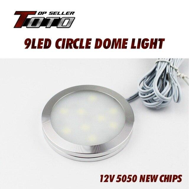 30pcs DC 12V LED 5050 SMD 9LEDS Thin Small Round Style Lamp Down ...