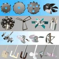 Verf propeller en dispersie plaat, mengblad, roerder, differen diameter kiezen, rvs materiaal, gratis verzending