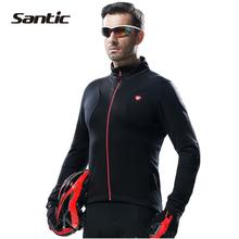 Santic Men Cycling Raincoat Windproof Sun Protection Blue Long Sleeve UPF30+ bike Jacket Waterproof Summer Bicycle Skinsuit
