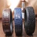 Alta calidad Mens Cinturones de Cocodrilo Blet Cuero Genuino de la Marca de Lujo Original H Hebilla de Cinturón con Hebilla de Correas pura Libre