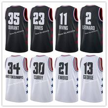 d4990a30343  23 LeBron James  34 Giannis Antetokounmpo  11 Kyrie Irving  30 Stephen  Curry  3 Dwyane Wade 2019 All Star Basketball Jersey