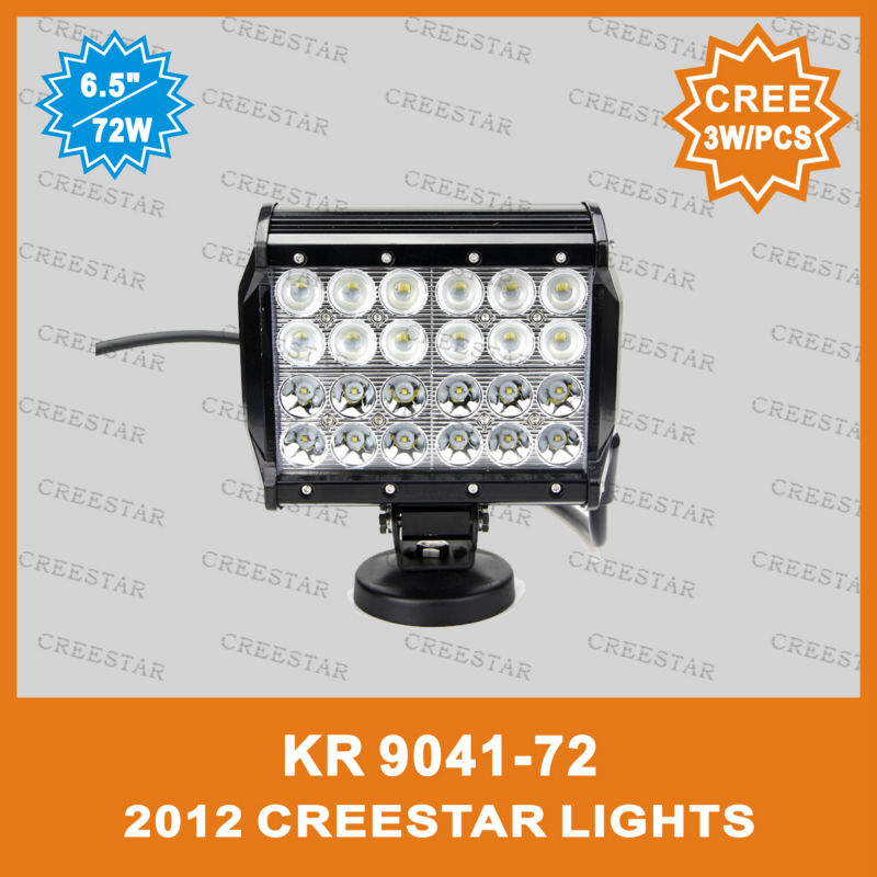 7 inch 72W Quad Row Light Bar LED Off Road Hi/Low Combo Beam KR9041-72 7inch 4 rows led offroad bar spot flood beam in one 12V видеоигра бука saints row iv re elected