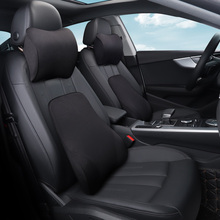Car Seat Head Neck Rest Massage Memory Foam Cushion Support Headrest Pillow Car Seat Cover 5 Colors Universal Car Styling недорого