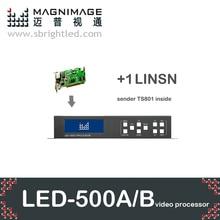 freeship MAGNIMAGE LED-500A/led-500b+linsn ts802,a mini led video processor,includ AV, DVI, VGA, HDMI, image crop/freeze