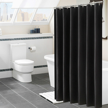 Solid Color Shower Curtain 180CM Waterproof Bathroom Partition White polyester moisture-proof shower curtain D50