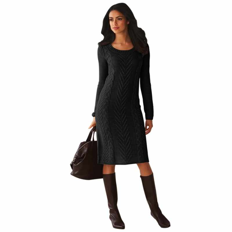 920472ee33d ... Zmvkgsoa 100% Polyester OEM Service Knitted Adults Winter Dresses Long  Sleeve Tight Sweater Dress For ...