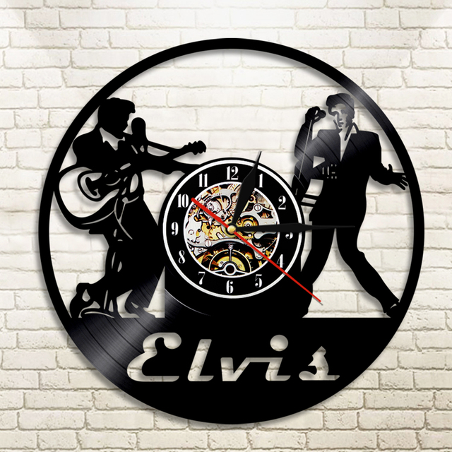 1piece Elvis Wall Clock Vinyl Record Clocks Home Decor The King Of Rock N Roll Clic