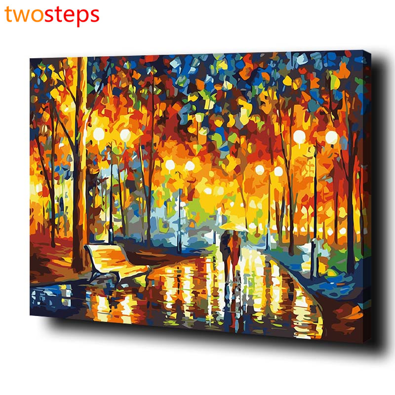 TwoSteps DIY Digital Canvas Oil Painting By Numbers Pictures Coloring By Numbers Acrylic Paint By Number Kits Abstract Splendid