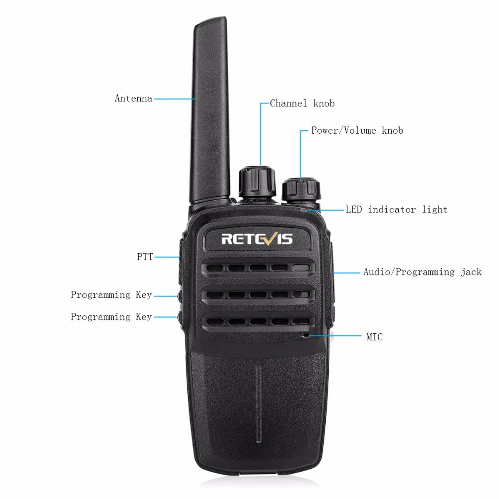 Image 2 - 2pcs RETEVIS RT40 Licence free Digital Two Way Radio Portable Walkie Talkie DMR PMR446/FRS PMR 446MHz 0.5W For Hotel/Restaurant-in Walkie Talkie from Cellphones & Telecommunications