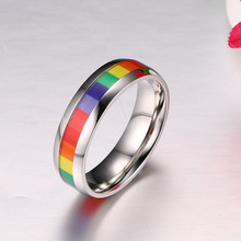 Rainbow Rings Stainless Steel