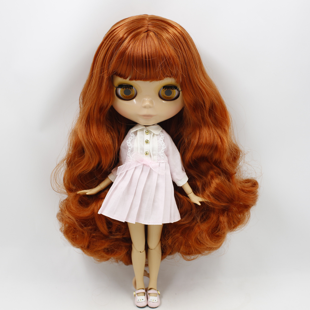 Nude Blyth Doll Serires No bl1027232 Red Brown hair JOINT body burning skin with big breast