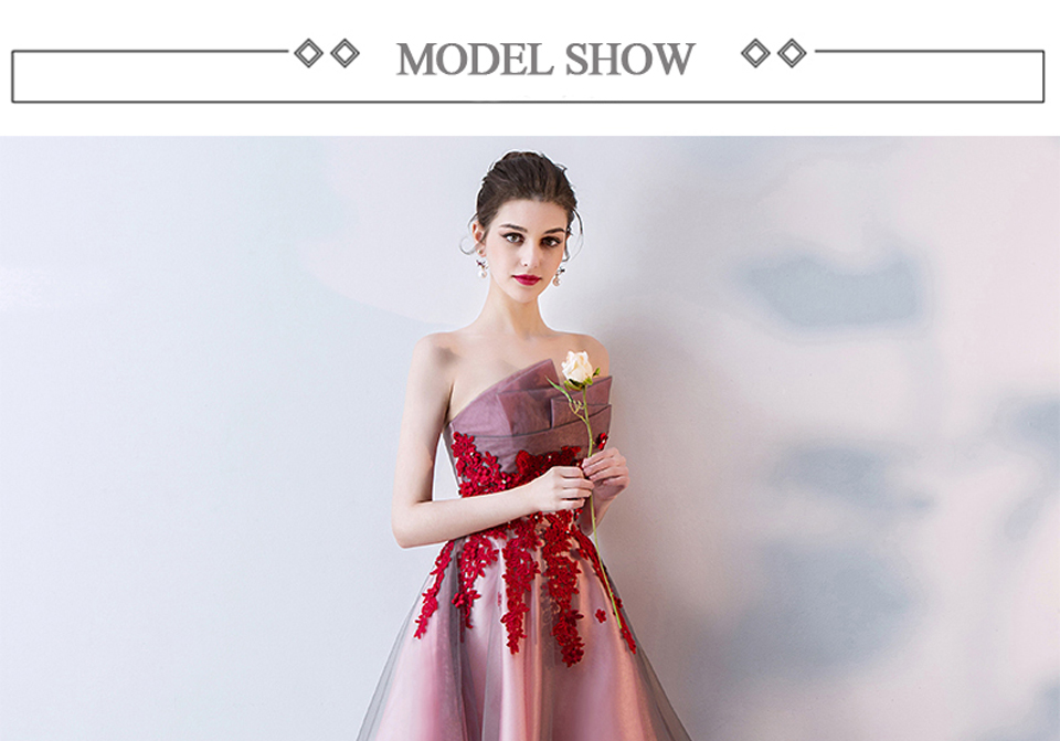 f979cd45b16b47 LAMYA Short Front Back Long Tail Prom Dresses Women Banquet High Low E